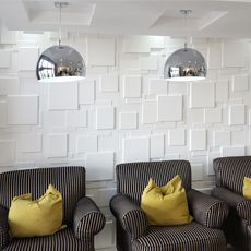 Brick effect wall art decor paintable diy home decorative 3d pvc wall panel for interior wall panel