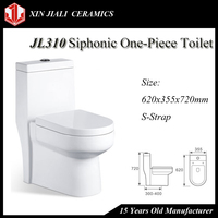 Chinese Good Price Sanitary Ware WC Ceramic Siphonic One Piece Toilet