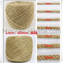Natural jute twist hemp rope price hemp cord string exporter in China