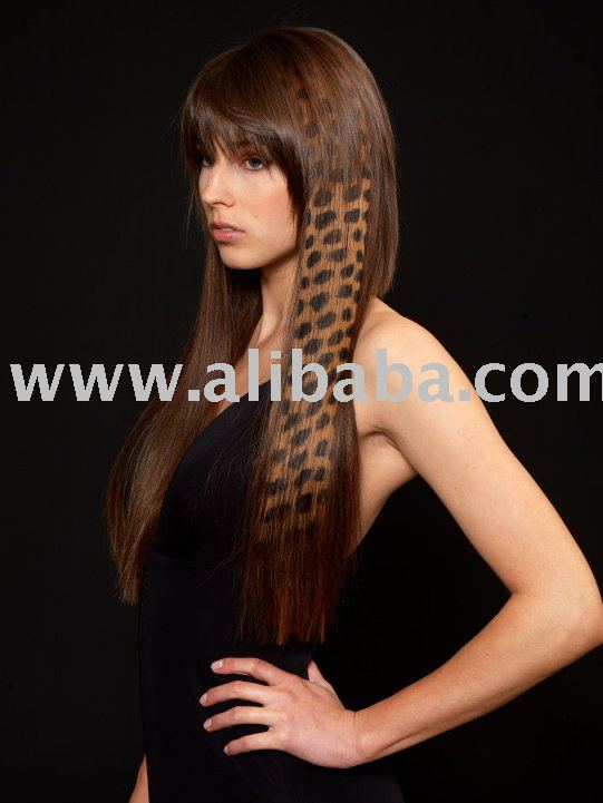 WILD HAIR EXTENSIONS - HAIR TATTOO CHEETAH