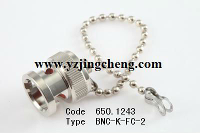 BNC female dust cap with chain