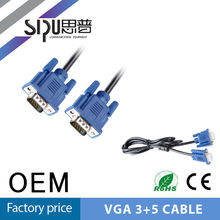 SIPU vga rca male to male high-quality cable vga high end 3 rca to 3rca cable vga