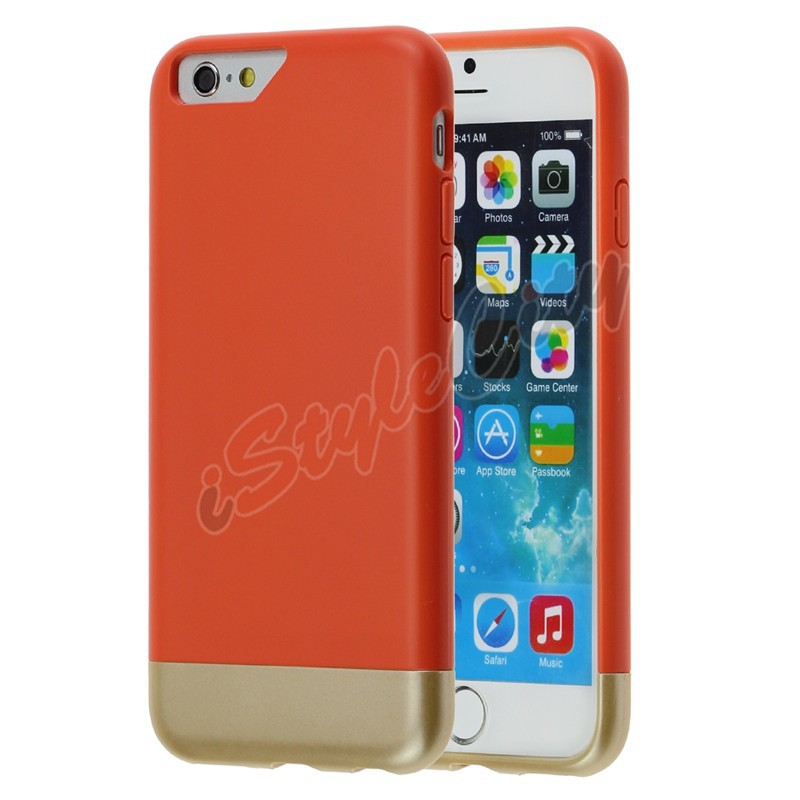 2 in 1 Combo Detachable Cute Colorful Bumper Case for iPhone 6