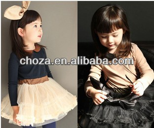 C50626S NEWEST DESIGN SPRING FASHION STYLE DOLL BROUGHT CHILDREN DRESS