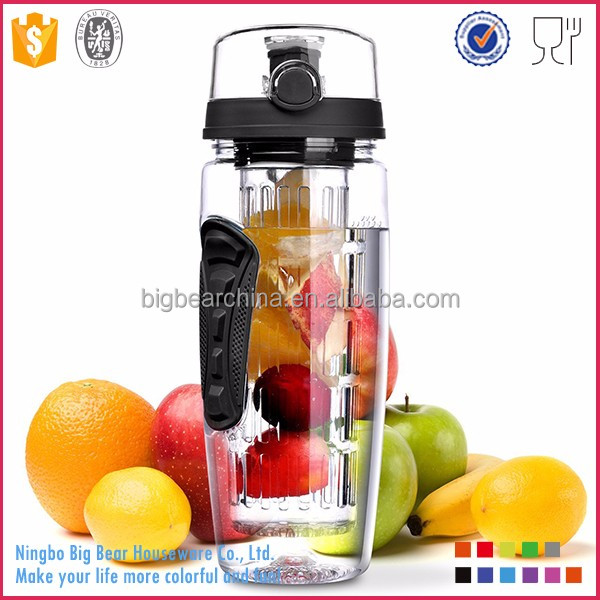 2017 Tritan Fruit Infuser Water <strong>Bottle</strong> with Full Length Infusion Rod
