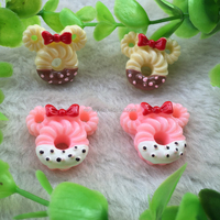 New Design 24*22mm Multi-color FlatBack Kawaii Cookie Cabochon Resin Fake Food for Hair and Phone Decoration