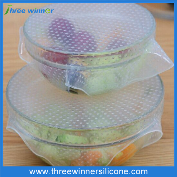 Kitchen Tools Keep Food Fresh Silicone Seal Cover Stretch Cling Film