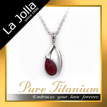 Red Onyx with Pretty Silver Magnetic Titanium Germanium Pendant