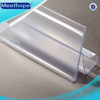 Supermarket Equpment Label Sign Holder Plastik Data Strip / Plastic Clear PVC Label Holder For Retail Store with High Quality