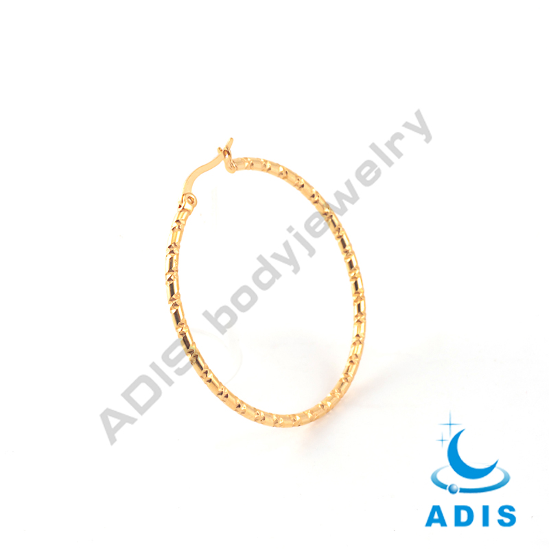 Fashion jewelry 2017 stainless steel large gold hoop earrings for women
