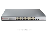Desktop Metal Housing Switch 24 PoE Ports 26-Port PoE Switch with 2 Gigabit Combo Ports