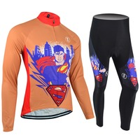 BXIO Professional Cycling Jersey Without Bibs Winter Clothing Winter Thermal Fleece Cycling Jersey Long Sleeve BX-0108O003NB