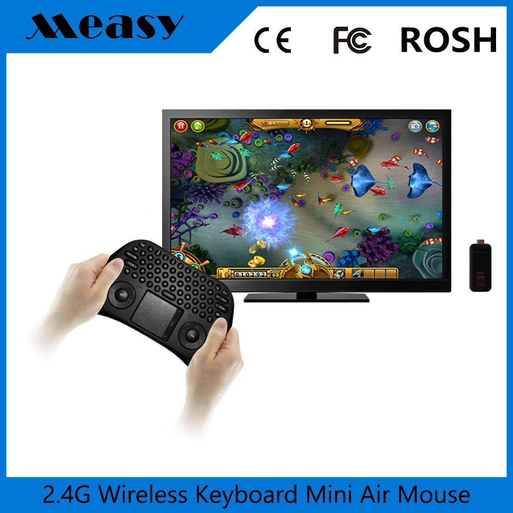 2016 Measy TK668 Full QWERTY 2.4GHz Wireless Air Mouse with TV Remote Control for Computers / Smart TV / Tablets / Game Consoles