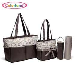 Colorland Innovative Baby Changing Bag Set Functional Mummy Bag Carry All Diaper Bag