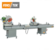 Double head mitre cutting saw machine for upvc and aluminum profile window and door