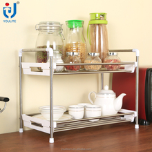 2 tier stainless steel kitchen spice rack
