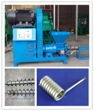 Screw sawdust briquette charcoal plant / Round wood rod making machine / Rice husk stick extruder for hot sale