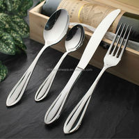 Low MOQ Good Quality Wholesale Tableware Cheap Stainless Steel Cutlery Set