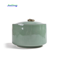 High Quality Celadon Ceramics Sealed Storage Chinese Tea Canister