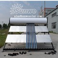 compact pressurized solar water heater upto 2mm inner tank food grade stainless steel high pressure endurable pressure valve inc