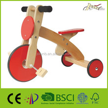 Popular Safety Child Wood Balance Tricycles Ride On Toys for Kids