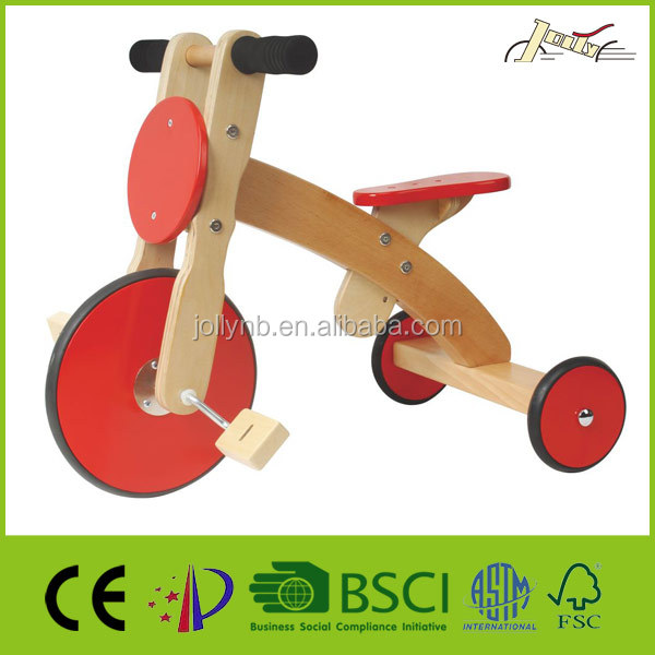 Popular Safety Child Wood Tricycles Toys for Kids