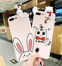 3D Rabbit Toy Series Cute Cartoon Printing Soft Silicon Mobile Phone Cover For OPPO F5 F3 F1