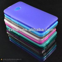 Semi Transparent Gel Anti-skid TPU dustproof plug case for HTC One M7