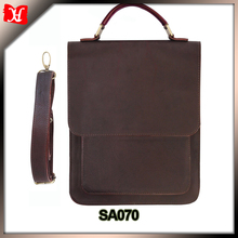 Casual Leather Shoulder Bag Mens Messenger Bag Red Brown Tote Style Handbags