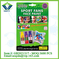 cheer item yellow/blue/ purple sport fans toys face paint