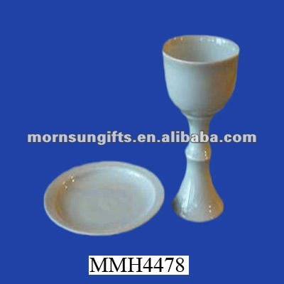 Chalice white porcelain communion ware