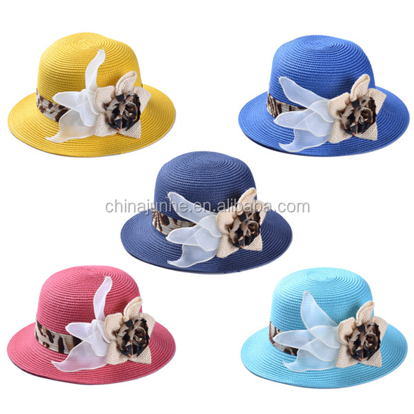 2014 Hot Sale Wholesale Promotional Cheap Manufacture Fashion China Braid Lady Straw Beach Hat