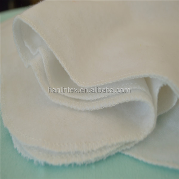 plain weave wholesale 100% cotton/cvc 120gsm white flannel fabric for baby blanket/diaper thailand