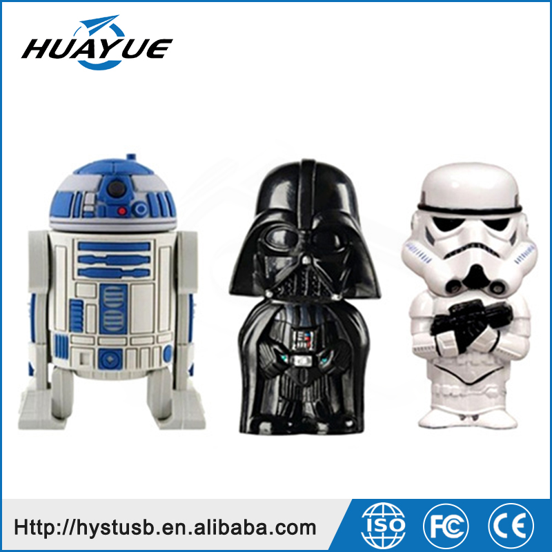 Real capacity usb cable 32gb New star war R2D2 U-disk 2.0 wristband USB flash Drive 64GB for gift