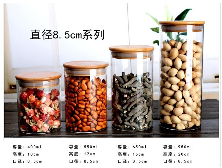 Decorative Wholesale High End Household Pyrex Glass Spice Jars