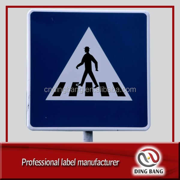 DB cheap custom metal pedestrian crossing sign