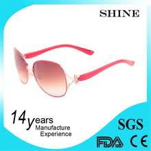 100% handcrafted classical and fashional fashion butterfly metal part with stone sunglasses