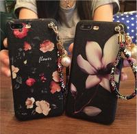 New Shivering graffiti silk pattern mobile phone case for iphone oppo vivo with pearl bracelet