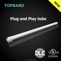 UL DLC Listed Direct Fit Ballast Compatible plug and play T8 LED Tube 4ft 18W 13W