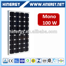 Hot selling 36 cells mono 100w solar panel 12v 100w solar panel support structures