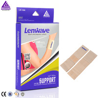 Lenwave fitness training Senior Synthesis sponge Golden wristbands Spiral Wrist support wraps