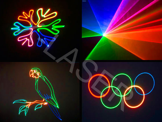 300mW Full Color Animation Laser Light/dj laser light disco party lighting