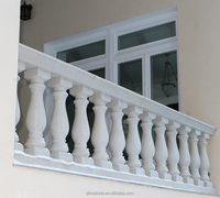 white marble balusters handrail