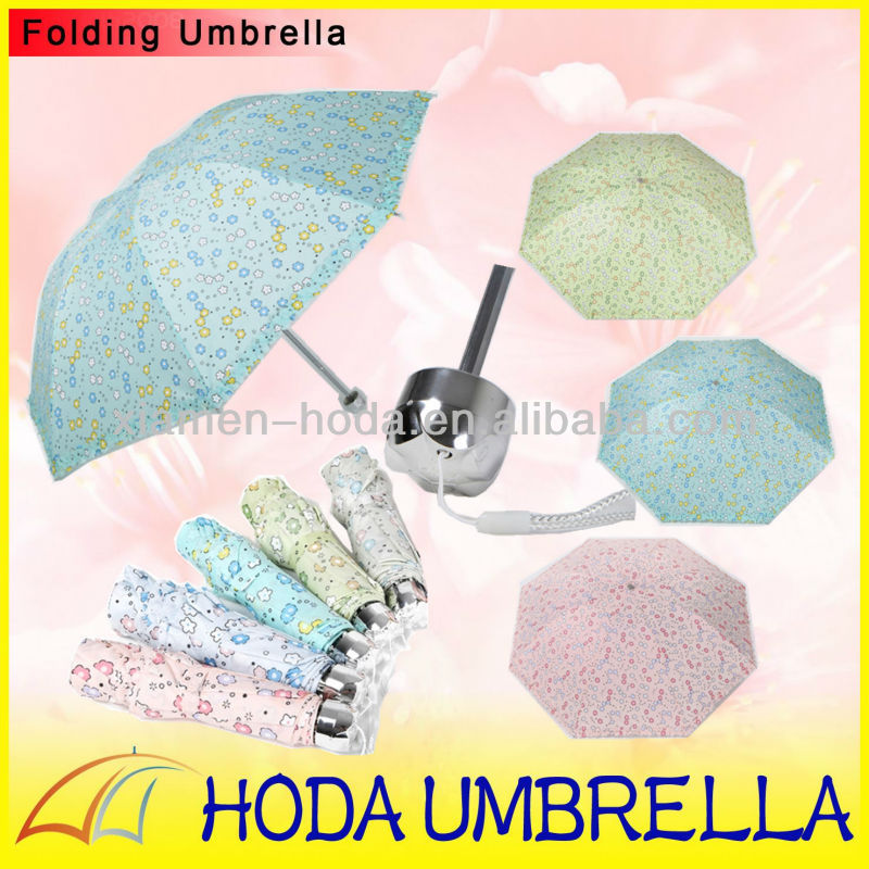 3 section lovely design beauty girl sun/rain umbrella with small flower