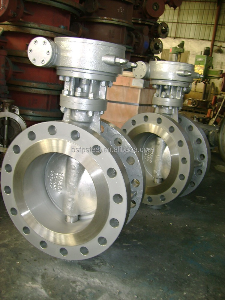 Three Eccentric Center Flanged Butterfly Valve