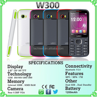 "2016 hot sale in alibaba 2.8"" big screen feature mobile phone strong battery cellphone W300"