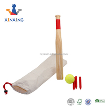 Kleur Houten baseball game bat bal set outdoor games met zak