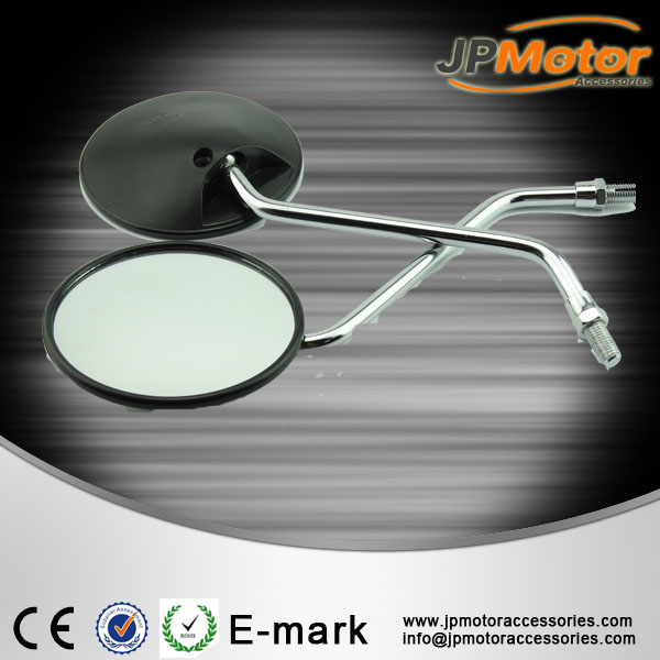 Bajaj motorcycle spare parts, ABS housing iron bar side mirror for motorcycle, motorbike