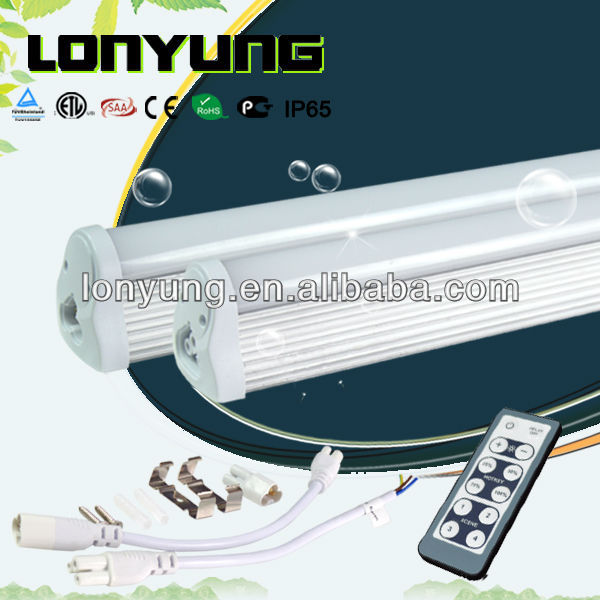 High brightness led T8 fluorescent lighting High Lumen 100/LM T8 integrated remote control/ dimmer