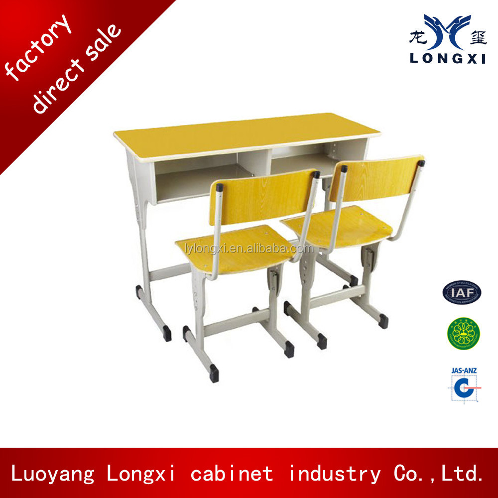Cheap price adjusttable double student desk and chair,school furniture for children's education,high school furniture classroom